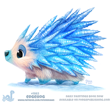 Daily Paint 1862# Edgehog by Cryptid-Creations