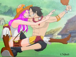 Ace and Bonney. by KFXronos