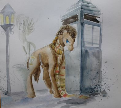 doctor whooves watercolor by RIRICHOUX