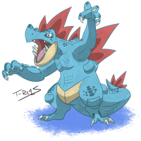 Feraligatr by T-Reqs