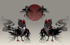 MYO BirdFolk - Shadow - for HarukiTheWolf by Miru-Studios