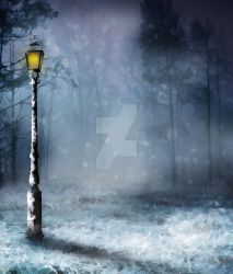 Premium Premade BG Winter Nature 391 by JassysART