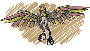 Commission 4 - Sohl the Harpy by phantos