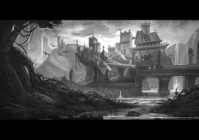 Castle concept bw by JonathanDufresne