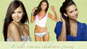 Nina Dobrev PNG pack by CreativeTaylor