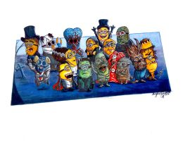 If Minions were classic Monsters by OMKDrawings