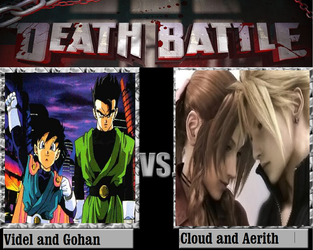 Videl and Gohan Vs Cloud and Aerith by KeybladeMagicDan