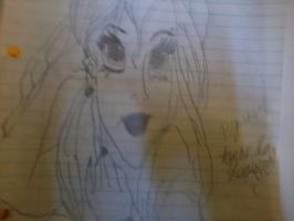 Gothic emo Ariel drawing by nightangel5431