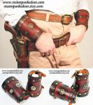 Cowboy Wrist Cuff Set by Steampunked-Out