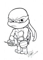 Chibi Raphael dirty inks by Bee-chan