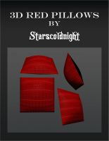 3D red pillows by starscoldnight by StarsColdNight
