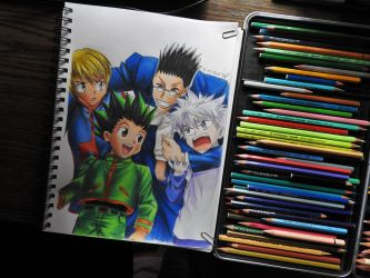 REQUEST---Hunter X Hunter Color DRawing by tak17hiro