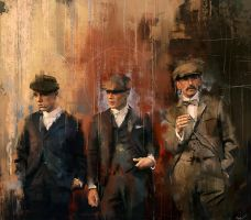 John, Thomas and Arthur Shelby by WisesnailArt