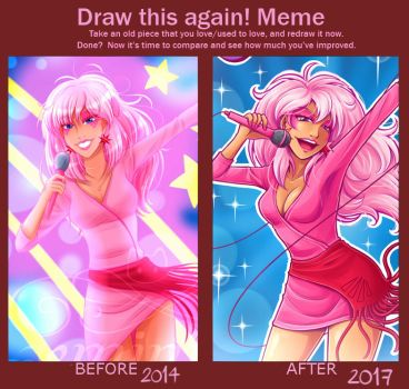 Draw this Again meme - Jem by Geminine-nyan
