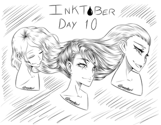 Day 10: The Three Smiling Flowing Fates by GrayDustOA