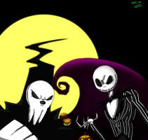 Jack Skellington and Lord Death by ZheyZhey