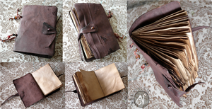 Grungy Leather Notebook by Nymla