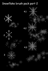 Snowflake brush pack Part 2 :FREE: by Mo-fox