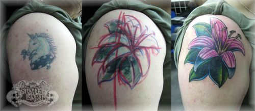 Flower cover up 2 by state-of-art-tattoo