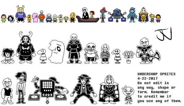 UNDERSWAP- All sprites by JunnBoi