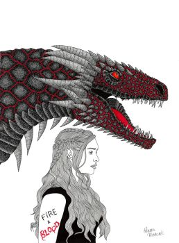 The Mother of Dragons by lauramarcuet