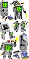 Domaster and Tetrawing - Game Boy / Tetris robots by VonBrunk