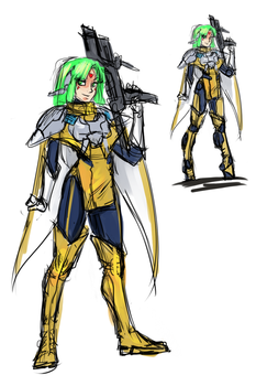 Phantasy Star IV Fangame - Demi Update Concept by ultema