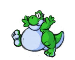Inflated Yoshi by DragonKick
