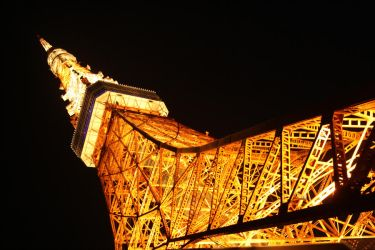 Tokyo Tower at Night by unikorn