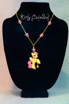 Fluttershy chain necklace by shuiichibrie