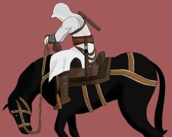 AC: Altair riding a horse by DonnaHyena