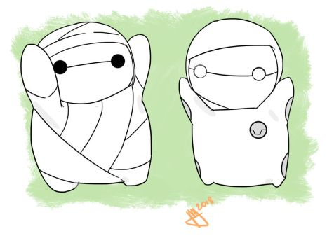 Onesie Miikun And Baymax by Shomik-17