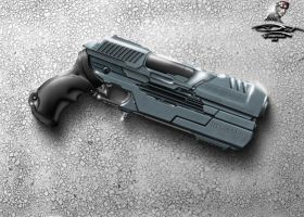 Pistol RG-AM.95 for NanoFoX Proyect (2D reference) by Unreal-Forever