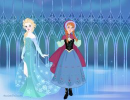 Elsa and Anna by Yandere-ChanKawaii13