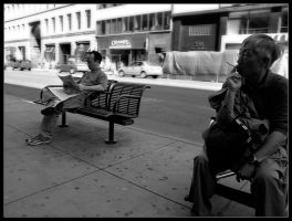Passing Time in NY by Wivelrod