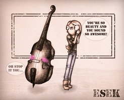 Double bass by MY-B0Y
