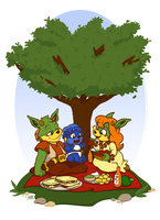 A Dreamstone Family Picnic by raygirl