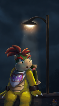 Under The Streetlight Non Animated by HG-The-Hamster