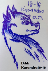 Dragon - drawing with a pen by Kasandra16-16