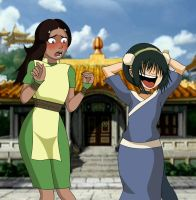 Katara and Toph (reupload) by chupipupi10