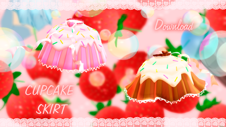 MMD download : Cupcake Skirt by HoshichoM