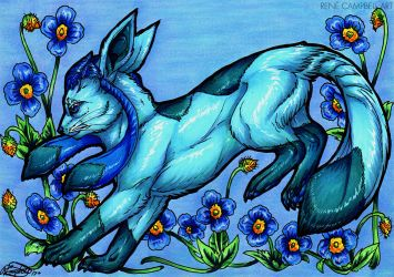 Evolve the Rainbow - Glaceon by ReneCampbellArt