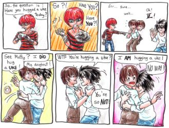 Have you hugged a uke today? by Gathine