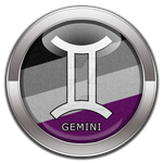Gemini - Asexual Pride  Button by lovemystarfire