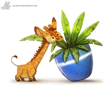 Daily Painting #949. Pygmy Giraffe (OG) by Cryptid-Creations