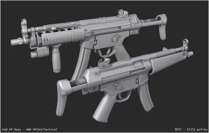 MP5A4 with Tactical version by EoD19