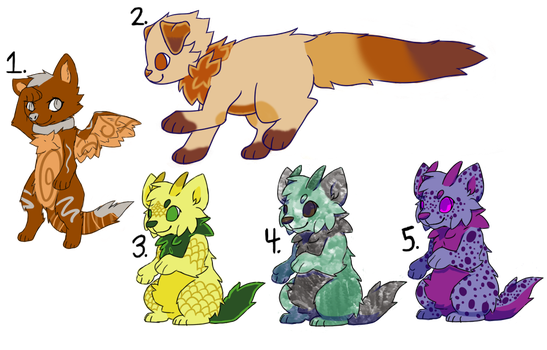 Mixed Cheap Point Adopts [OPEN 1/5] by HickatheDragon