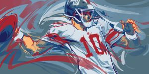 Form Will Follow (Eli Manning) by dicemanart