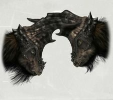 Two horny Pachycephalosaur by MALvit