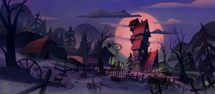 Spooky House by YogFingers